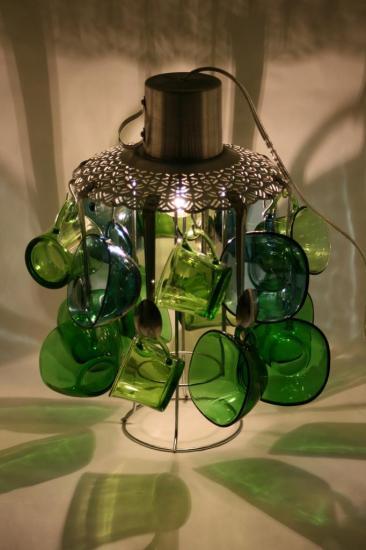"ARCHIVES LAMPE ""BLEU VERTE"""