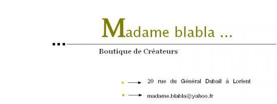 Madame blabla
